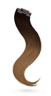 Tape In Extensions 30 cm Virgin Echthaar Ombre 1B/5B